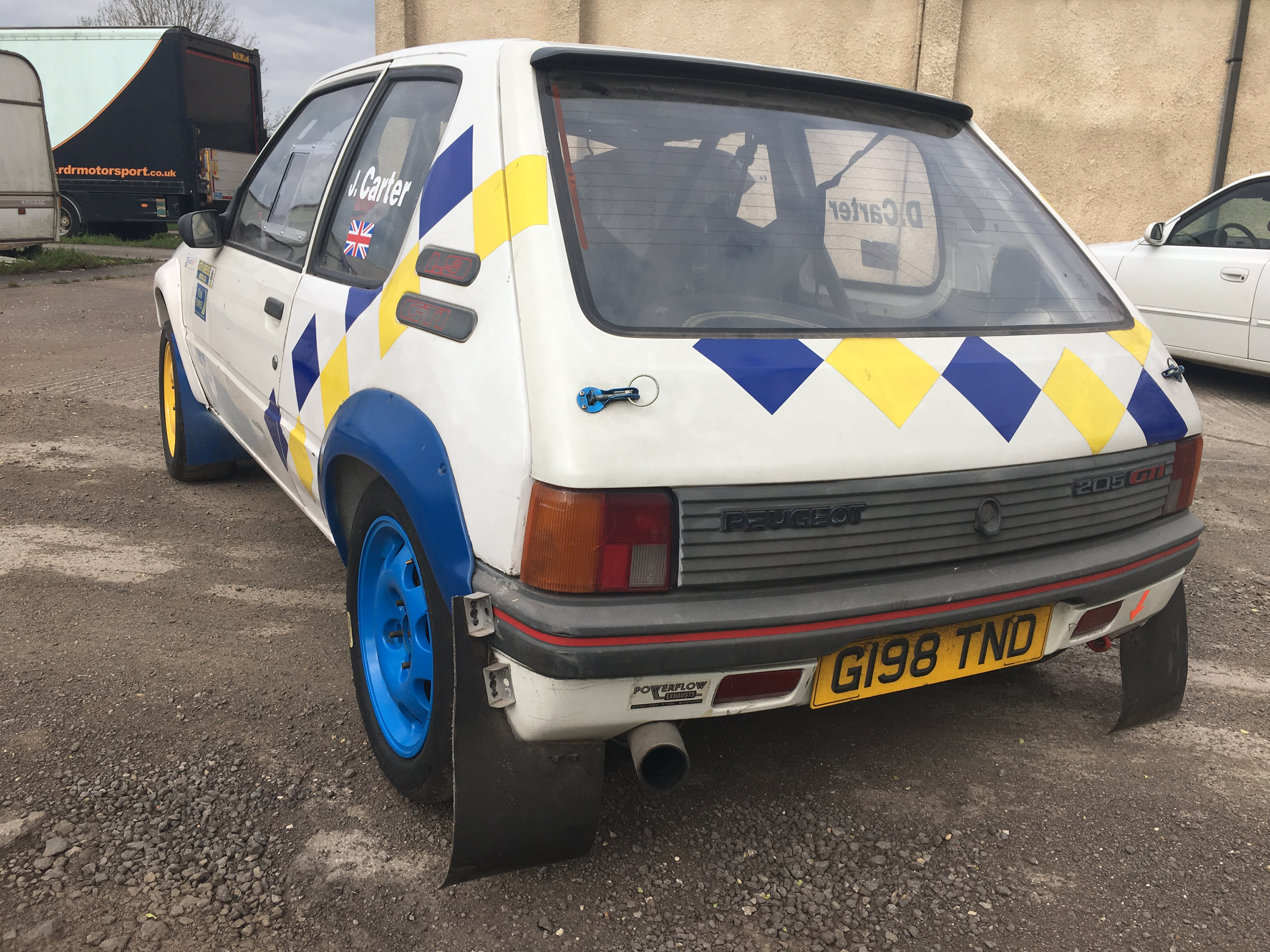 peugeot 205 gti fully prepared rally car for sale uk. Black Bedroom Furniture Sets. Home Design Ideas